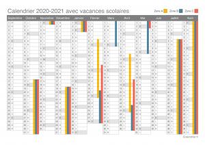 calendrier vacances 2020 2021